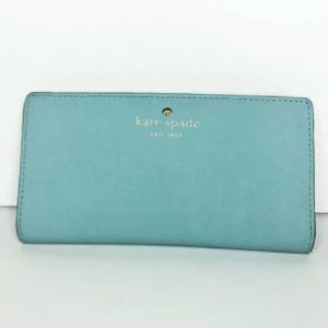 Kate Spade Baby Blue Snap Wallet WLRU 1691 Leather